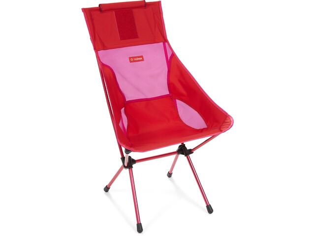 Helinox Sunset Krzesełko, red block/burgundy